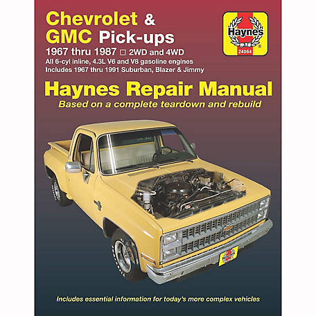 Haynes Repair Manual, Chevrolet & GMC Pickup, '67-'87