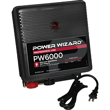 Power Wizard Electric Fence Controller, PW6000