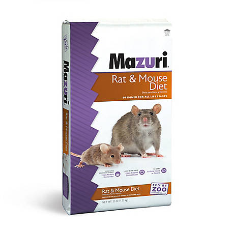 Mazuri Rat & Mouse Diet, 25 lb., 1442