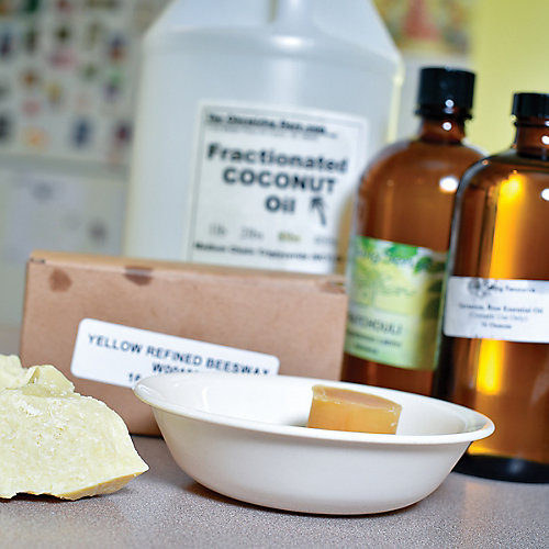 8 oz. beeswax 8 oz. cocoa butter (either natural/unrefined or refined/bleached/deodorized can be used in lotion bars) 8 oz. fractionated coconut oil