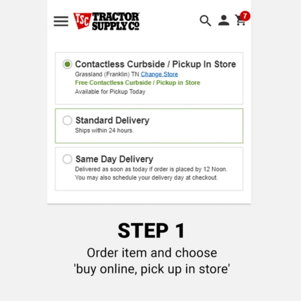 Curbside Pickup - Tractor Supply Co.