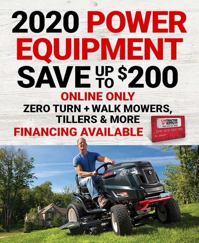 2020 Power Equipment - Tractor Supply Co.