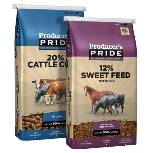 Producer's Pride Cattle Cubes and Sweet Feed, 50 LB - Tractor Supply Co.