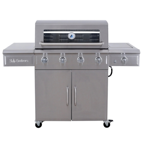 3 Embers 4-Burner Gas Grill with Radiant Embers Cooking System - Tractor Supply Co.