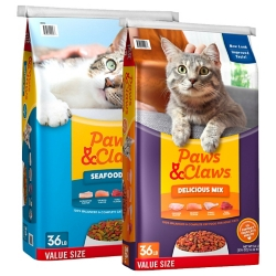 Shop 36 lb. Paws & Claws Delicious Mix & Seafood Mix Cat Food at Tractor Supply Co.