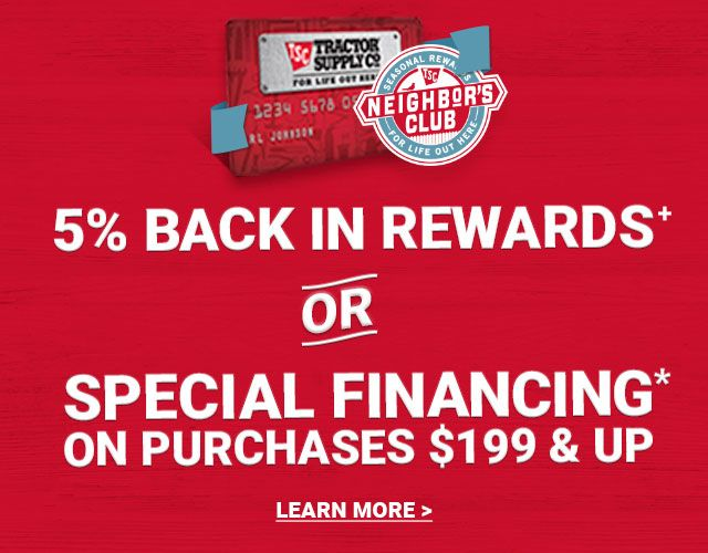 5% Back in Rewards+ or Special Financing on Purchases and Up. Learn More.