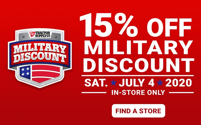 Military Discount - Tractor Supply Co.