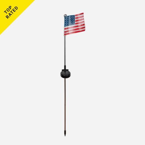 Fusion Solar USA Flag Stick Lights