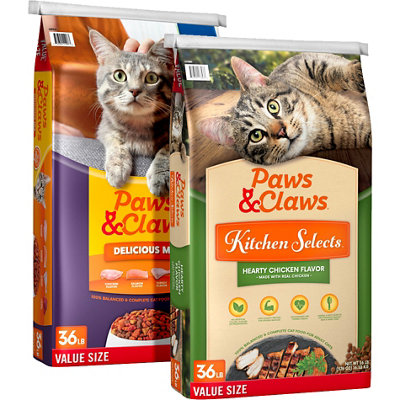 36 lb. Paws & Claws Dry Cat Food