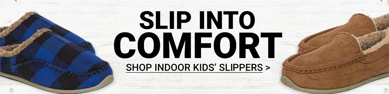 Slip Into Comfort. Shop Indoor Kids' Slippers.