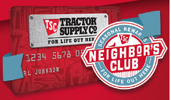 Tractor Supply Credit Card and Neighbors Club