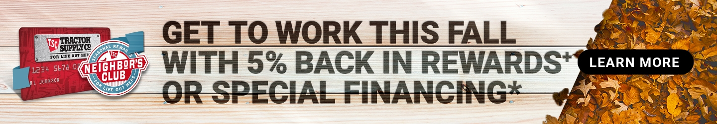 Get to Work This Fall with %5 Back in Rewards+ or Special Financing. Learn More.