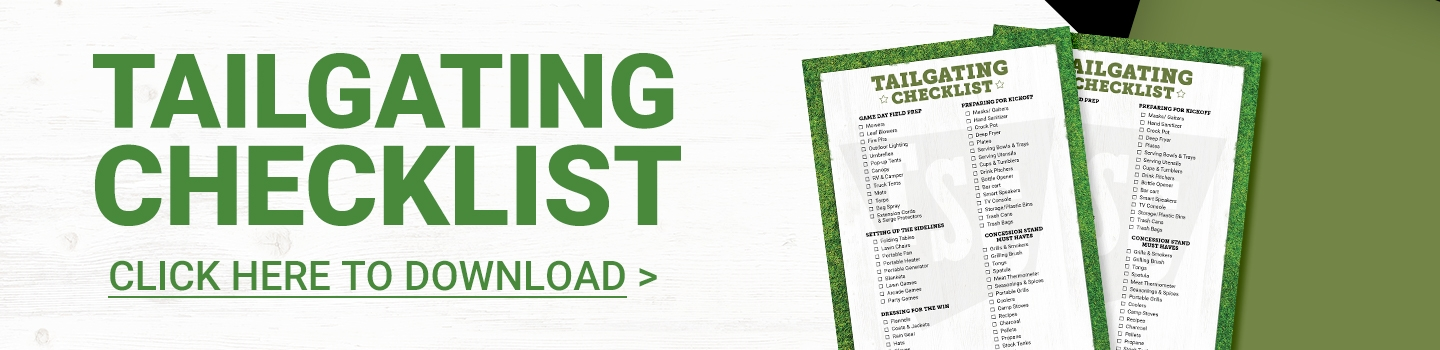 Tailgating Checklist. Click to Download.