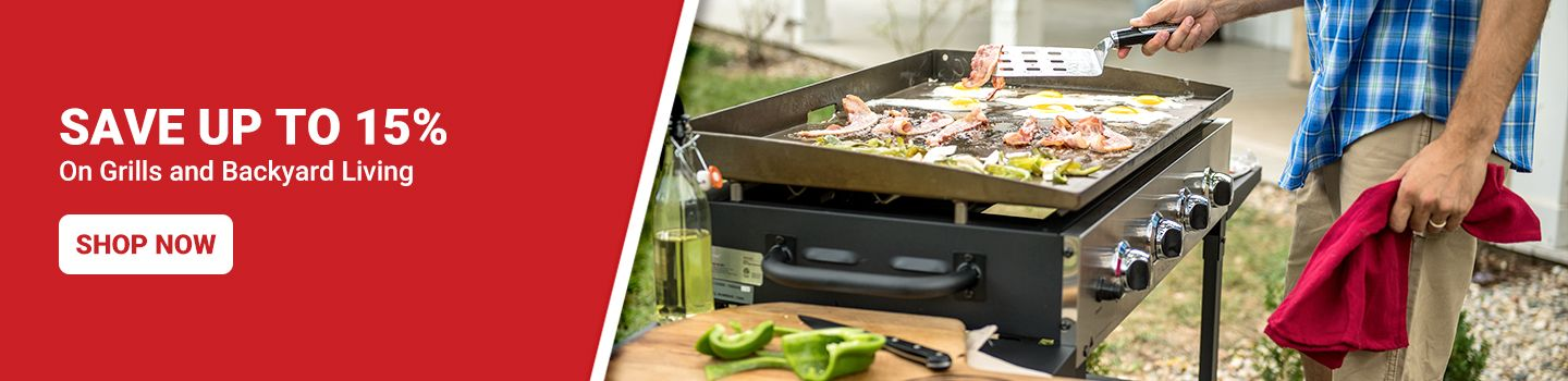 Save Up to 15% on Grills and Lawn Care. Shop Now.
