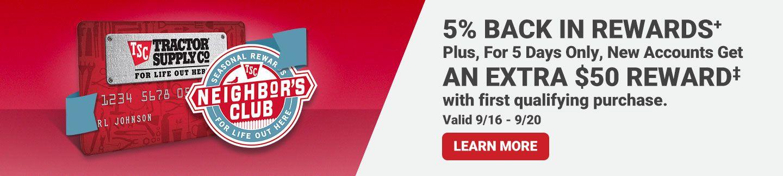 5% Back In Rewards