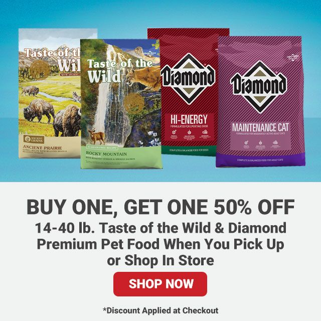 14-40 lb. Taste of the Wild & Diamond Premium Pet Food