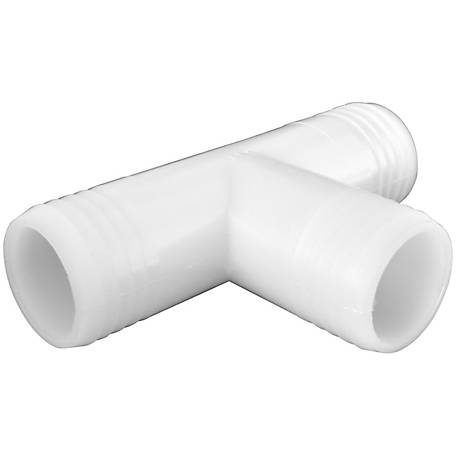 Green Leaf Polypropylene Insert Tee Hose Fitting, 2 in. x 2 in. x 2 in.