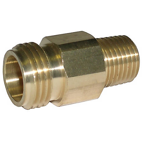 CountyLine Brass Nozzle Fitting, Pack of 4