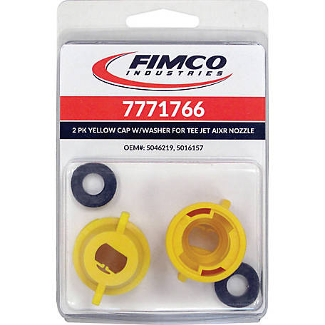 Fimco Yellow Nylon Quick Caps with Gaskets, Pack of 2, 7771766