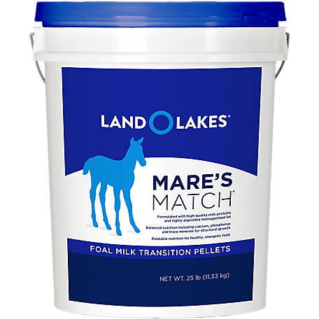 Land O'Lakes Mare's Match Foal Milk Transition Pellets, 25 lb. Pail