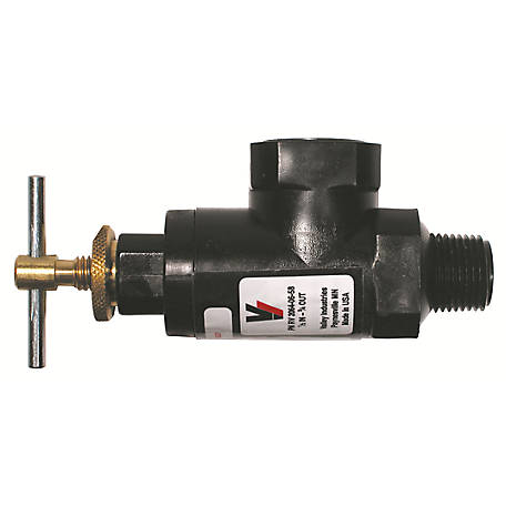 Hamilton Pressure Regulating Bypass Valve - 1/2 in. MNPT Inlet x 3/4 in. FNPT Outlet, Nylon, RV2064-06-58-CSK