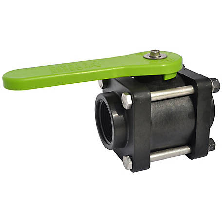 Green Leaf 4 Bolt Ball Valve, 1-1/2 in., Full Port, Female NPT