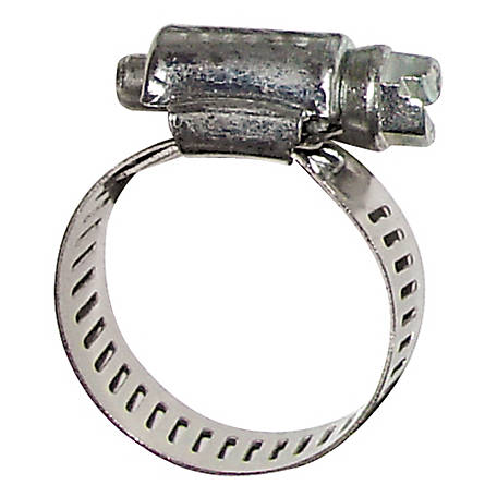 Fimco 1/2 in. Wide Stainless Steel Hose Clamp, 5/8 in. to 3/4 in. ID Hose, 5051021