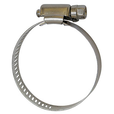 Fimco 1/2 in. Wide Stainless Steel Hose Clamp, 1-1/2 in. to 2 in. ID Hose, 5051026