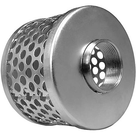 Green Leaf 1-1/2 in. Zinc Plated Round Hole Basket Strainer