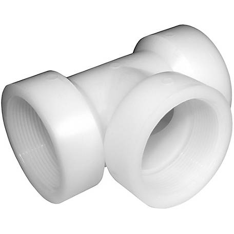 Green Leaf Nylon Pipe Tee Fitting, 1-1/2 in. FPT