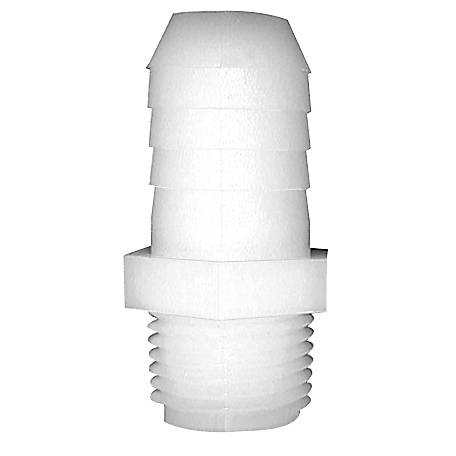 Green Leaf Nylon Straight Adapter, 1/8 in. MPT x 3/8 in. Barb