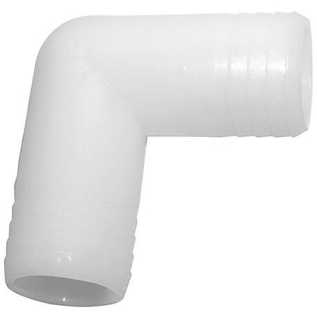 Green Leaf Nylon Elbow Barb, 3/8 in.
