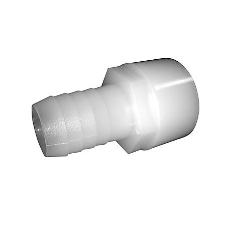 Green Leaf Nylon Straight Adapter, 1/2 in. FPT x 1/2 in. in. Barb