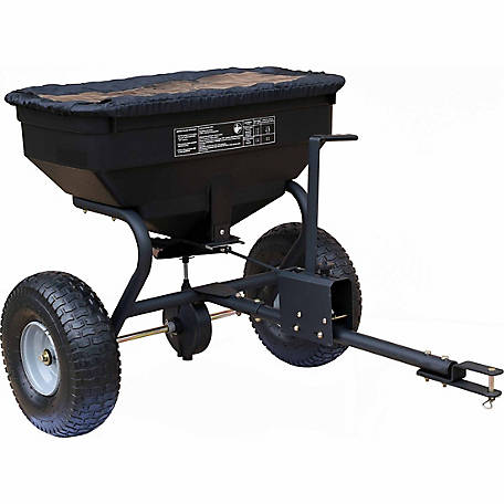 Groundwork Tow Behind Spreader With Rain Cover 130 Lb Capacity At Tractor Supply Co