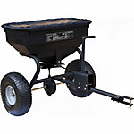 GroundWork Tow-Behind Spreader with Rain Cover, 130 lb. Capacity