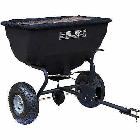 GroundWork Tow-Behind Spreader with Rain Cover, 200 lb. Capacity