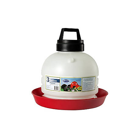 Farm-Tuff Top Fill Poultry and Game Bird Waterer, 3 gal., P3G04