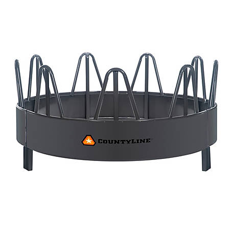 CountyLine Equine Pro Steel Feeder with Hay Saver, Black, 26121157TSC