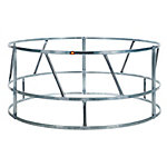 CountyLine 8 ft. Galvanized Bale Feeder for Livestock