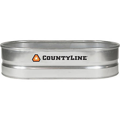 CountyLine Oval Galvanized Stock Tank, 2 ft. W x 4 ft. L x 1 ft. H, WT214