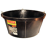 Fortex 17 in. W Round Feeder, 6.5 gal. Capacity, Black