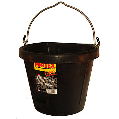 Fortex Flat Back Bucket, 4.5 gal. Capacity, Black