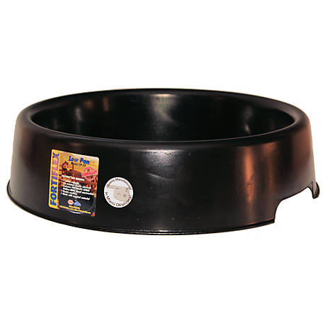 Fortiflex Low Feeder Pan, 3 gal. Capacity, Black