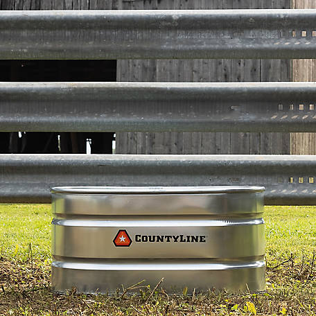 CountyLine Oval Galvanized Stock Tank, 2 ft. W x 4 ft. L x 2 ft. H, WT224