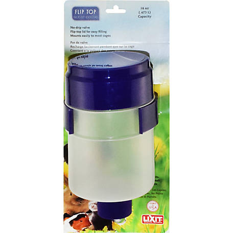 Lixit Flip Top Quick Lock Water Bottle, 16 oz.