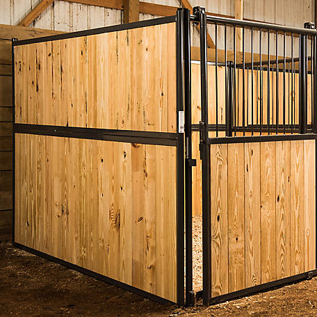 Standard Horse Stall Side Without Bars, 10 ft. L