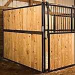 Standard Horse Stall Side Without Bars, 12 ft. L