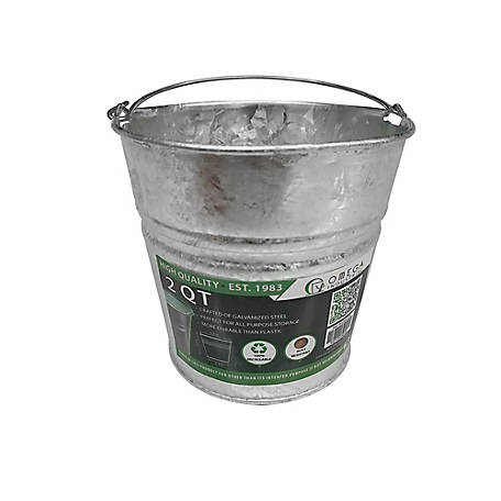 King Metalworks Hot Dipped Galvanized Pail, 60 oz. Capacity