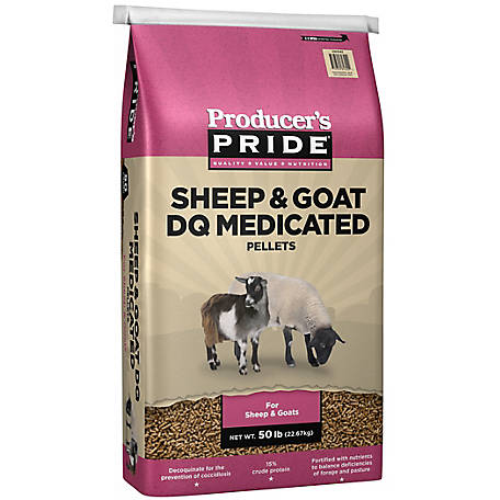 Producer's Pride Sheep & Goat Deccoquinate (DQ), Medicated Feed, 50 lb.
