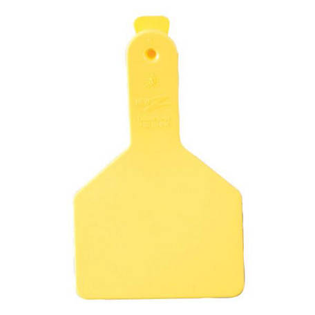 Z Tags Calf Blank Yellow 25 Count Easy Application Prevent Disease Transfer
